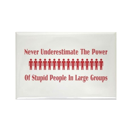 Never Underestimate Rectangle Magnet (100 pack)