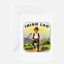 Irish Lad Cigar Label Greeting Card