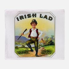 Irish Lad Cigar Label Throw Blanket