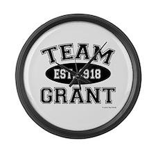 Team Grant Large Wall Clock
