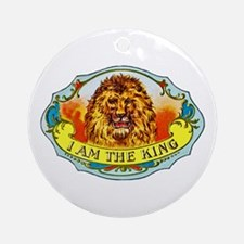 Lion King Cigar Label Ornament (Round)