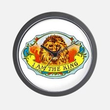 Lion King Cigar Label Wall Clock