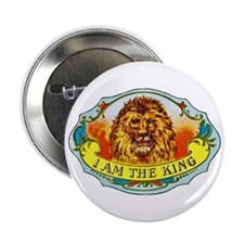 "Lion King Cigar Label 2.25"" Button"