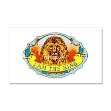 Lion King Cigar Label Car Magnet 20 x 12