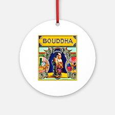 Bouddha Cigar Label Ornament (Round)