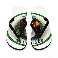 Socrates Cigar Label Flip Flops