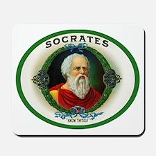 Socrates Cigar Label Mousepad