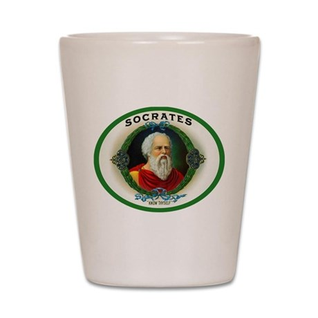 Socrates Cigar Label Shot Glass