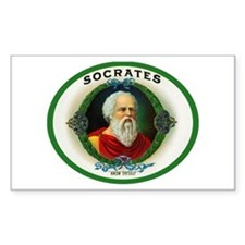Socrates Cigar Label Decal