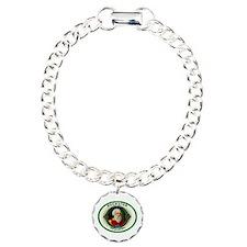 Socrates Cigar Label Charm Bracelet, One Charm
