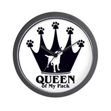 Queen of My Pack Wall Clock