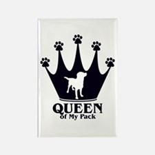 Queen of My Pack Rectangle Magnet