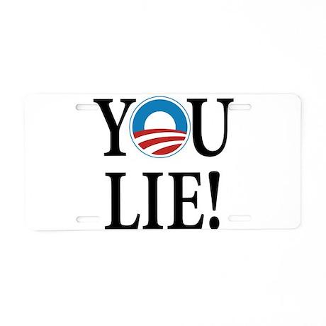 Obama lies Aluminum License Plate