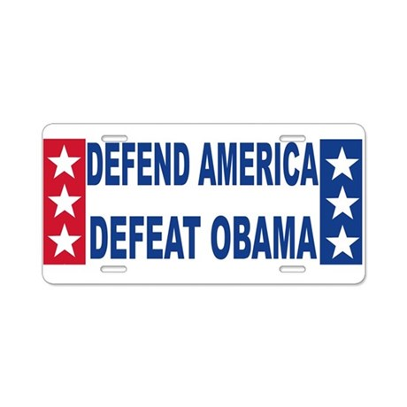 Anti obama Aluminum License Plate
