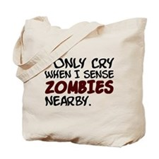 'Zombies Nearby' Tote Bag