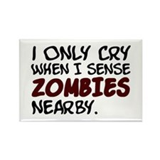 'Zombies Nearby' Rectangle Magnet