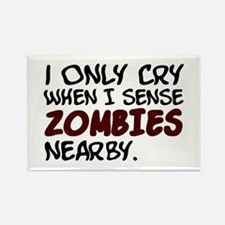 'Zombies Nearby' Rectangle Magnet (10 pack)