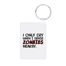 'Zombies Nearby' Keychains