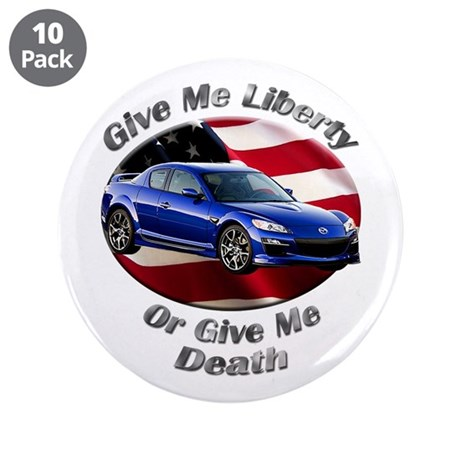 Mazda RX-8 3.5 Inch Button (10 pack)