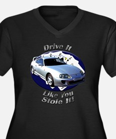 Toyota Supra Women's Plus Size V-Neck Dark T-Shirt