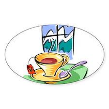 Tea2 Oval Decal