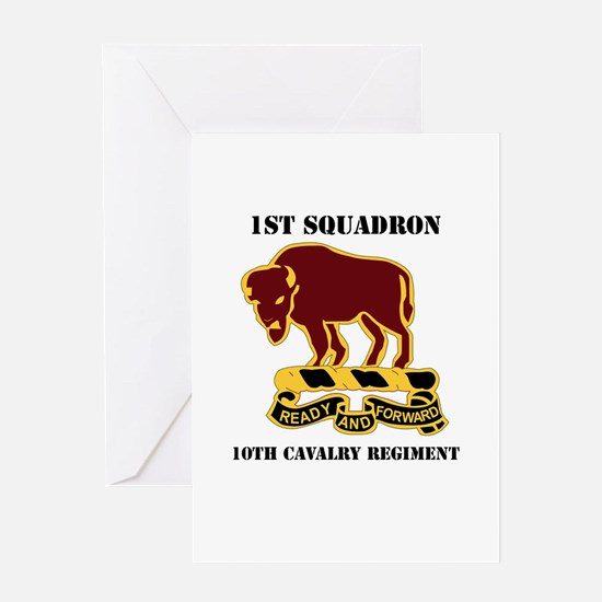 DUI - 1st Sqdrn - 10th Cavalry Regt with Text Gree