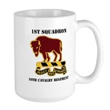 10th cavalry Large Mugs (15 oz)
