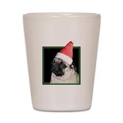 Christmas Pug Shot Glass