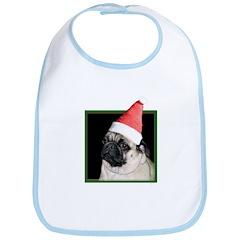 Christmas Pug Bib