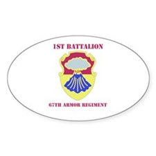 DUI - 1st Bn - 67th Armor Regt with Text Decal