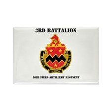 DUI - 3rd Bn - 16th FA Regt with Text Rectangle Ma