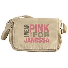 I wear pink for Janessa Messenger Bag