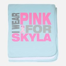 I wear pink for Skyla baby blanket