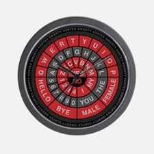 Qwerty Vortex Wall Clock