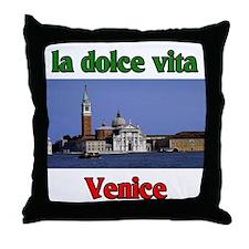 la dolce vita Venice Throw Pillow