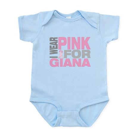 I wear pink for Giana Infant Bodysuit