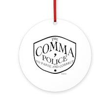 Comma Police Ornament (Round)