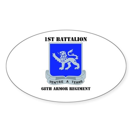 DUI - DUI - 1st Bn - 68th Armor Regt with Text Sti