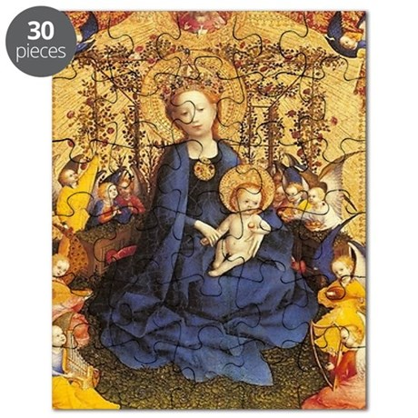 The Rose Madonna and Child Puzzle
