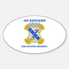 DUI - 1st Bn - 8th Infantry Regt with Text Decal