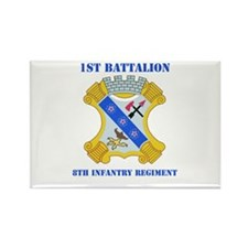 DUI - 1st Bn - 8th Infantry Regt with Text Rectang