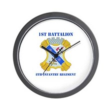 DUI - 1st Bn - 8th Infantry Regt with Text Wall Cl