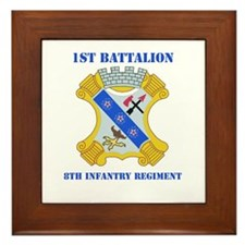 DUI - 1st Bn - 8th Infantry Regt with Text Framed