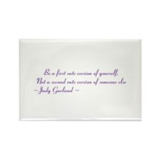 Judy garland quote Rectangle Magnet