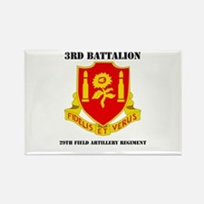 3rd Bn - 29th FAR with Text Rectangle Magnet