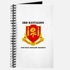 3rd Bn - 29th FAR with Text Journal