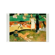 Tahitian Pastoral, Gauguin Rectangle Magnet