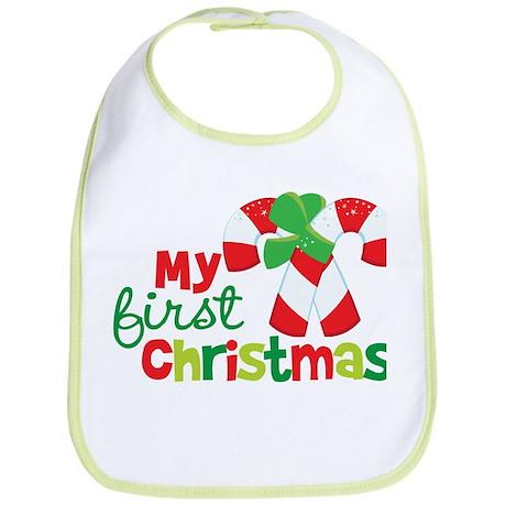 Candy Cane My 1st Christmas Bib