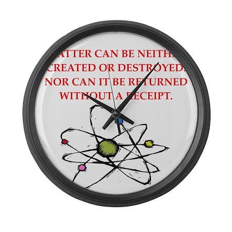 funny physics joke Large Wall Clock