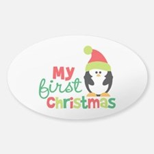 Penguin My 1st Christmas Decal